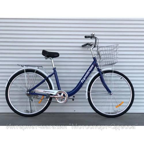 Велосипед без скоростей 28 дюймов 17 рама корзина багажник, фото 1