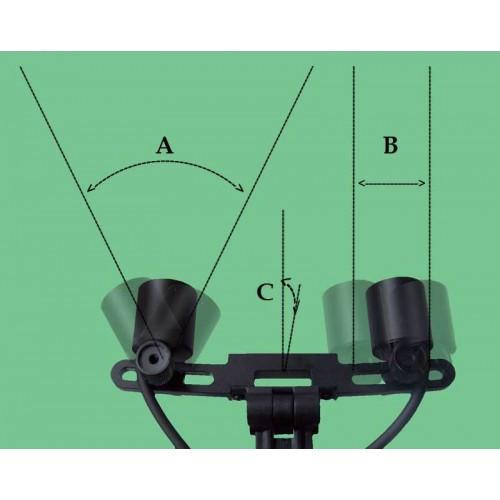 Бінокулярний збільшувач ECMP-4,0 x-R з светителем D-Light Duo