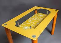 """Стеклянный стол в кухню """"Улыбка"""", фото 1"""