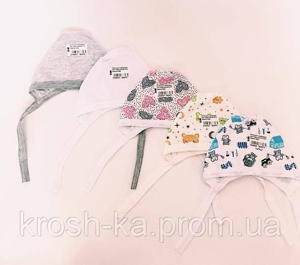 Чепчик для новорожденных  кулир Украина цветной 2252