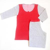 """Комплект спальный женский бриджи с футболкой 3/4 PK 05 """"Ego"""" 95% хлопок цвет красный"""