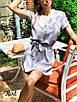 Платье мини с поясом, с коротким рукавом в разных расцветках, фото 3