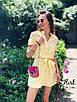 Платье мини с поясом, с коротким рукавом в разных расцветках, фото 4