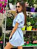 Платье мини с поясом, с коротким рукавом в разных расцветках, фото 7