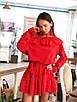Стильное платье с воланами в разных расцветках, фото 2