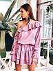 Стильное платье с воланами в разных расцветках, фото 5