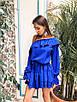 Стильное платье с воланами в разных расцветках, фото 9