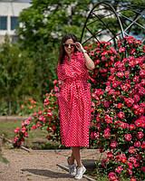 Платье в горошек красное, фото 1