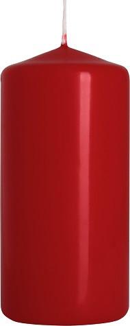 Свеча цилиндр бордовая Bispol 10 см (sw50/100-036)