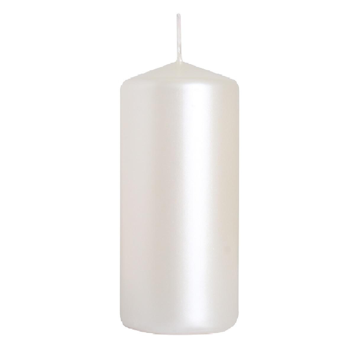 Свеча цилиндр перламутровая Bispol 10 см (sw50/100-190)