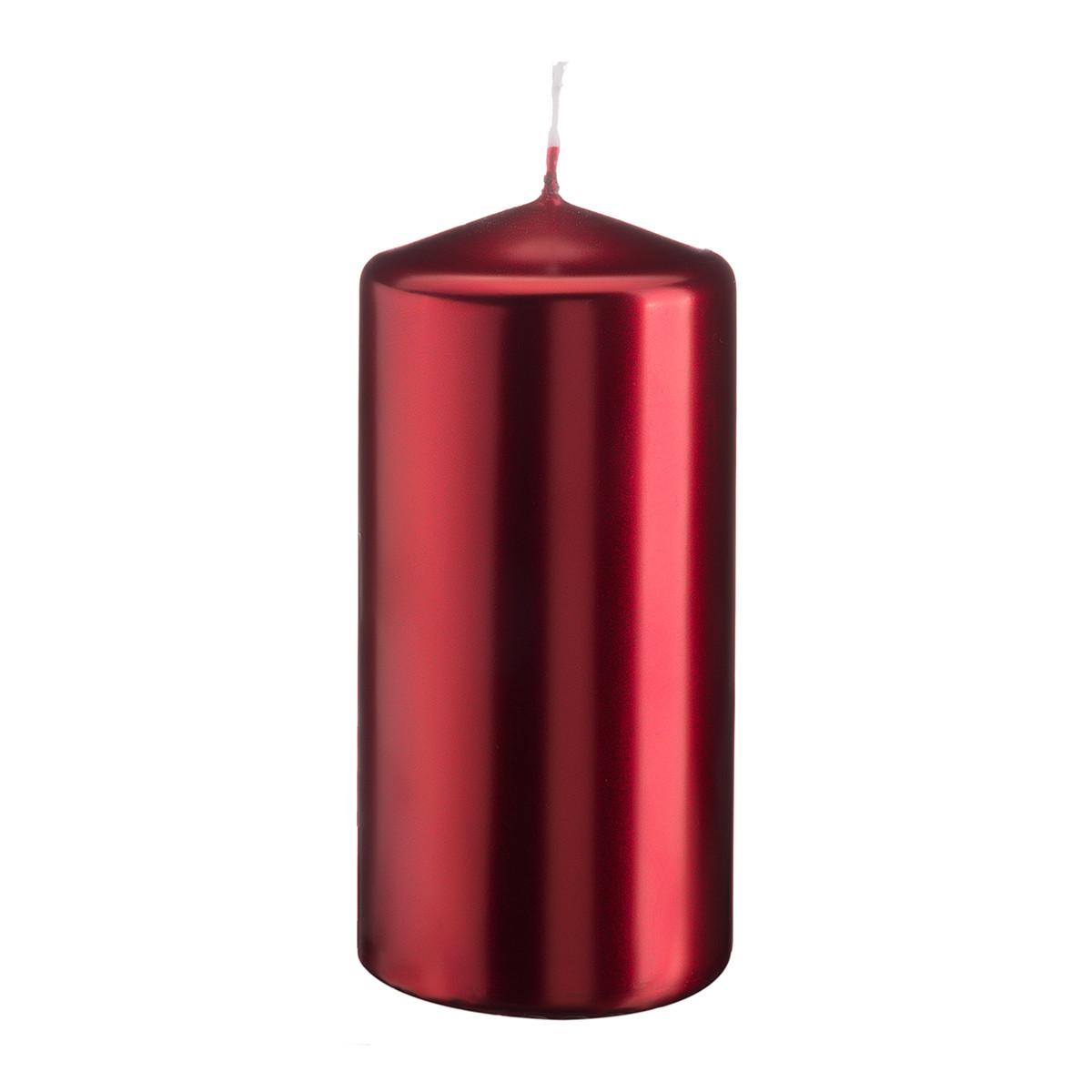 Свеча цилиндр красный металлик Bispol 10 см (sw50/100-230)