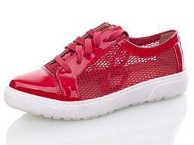 Туфли, кеды летние Girnaive женские сетка красные
