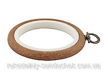 Пяльцы-рамка Nurge 230-1 круглые каучуковые с подвесом, высота обода 8 мм, диаметр 95 мм