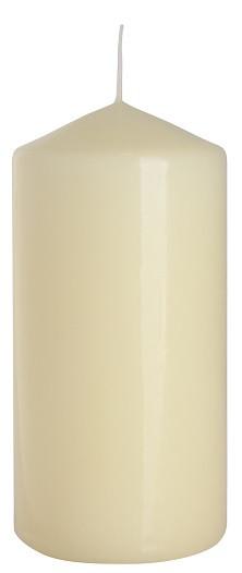 Свеча лакированная кремовая Adpal 6х12см (л60/120-011)