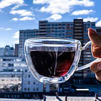Чашка с двойными стенками DS Handle Wave 150 мл, фото 1