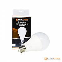 Лампа светодиодная ЕВРОСВЕТ 18Вт 4200К A-18-4200-27 Е27, фото 1