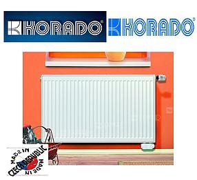 Стальной Радиатор отопления (батарея) 500x1000 тип 11 Korado Radik (боковое подключение)