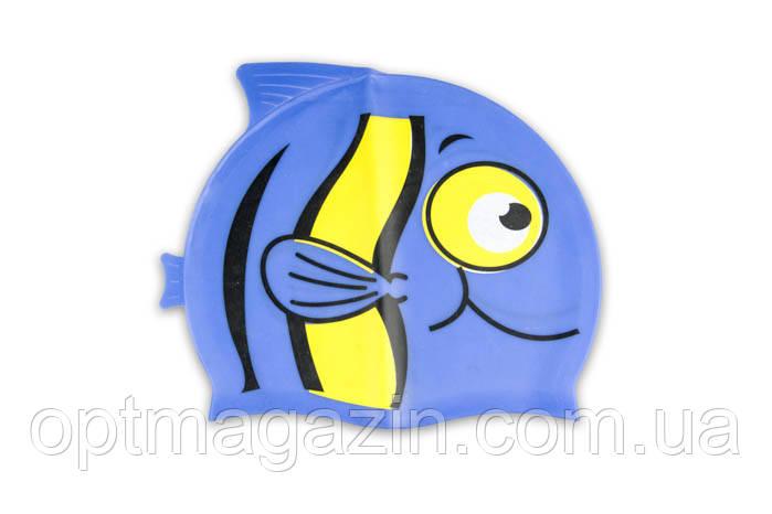 Шапочка для плавання рибка силіконова NRG-390