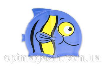 Шапочка для плавання рибка силіконова NRG-390, фото 2