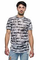 Удлиненная футболка мужская «Рим» (Серая | S, M, L, XL, 2XL)