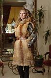 жилет жилетка из лисы fox horizontal layered fur vest , фото 2