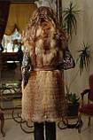 жилет жилетка из лисы fox horizontal layered fur vest , фото 3