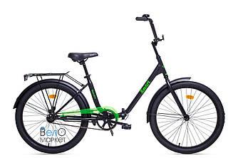 """Складаний Велосипед AIST SMART 24"""" 1.1 чорний/зелений"""