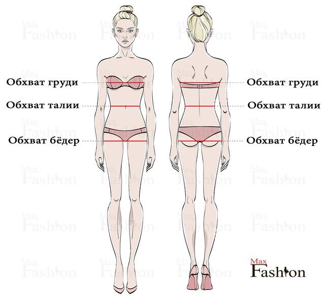 как правильно измерить бедра, талию и грудь
