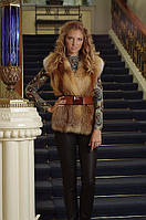 Жилет жилетка из цельной лисы  Fox fur vest made of whole skins, length=67 cm