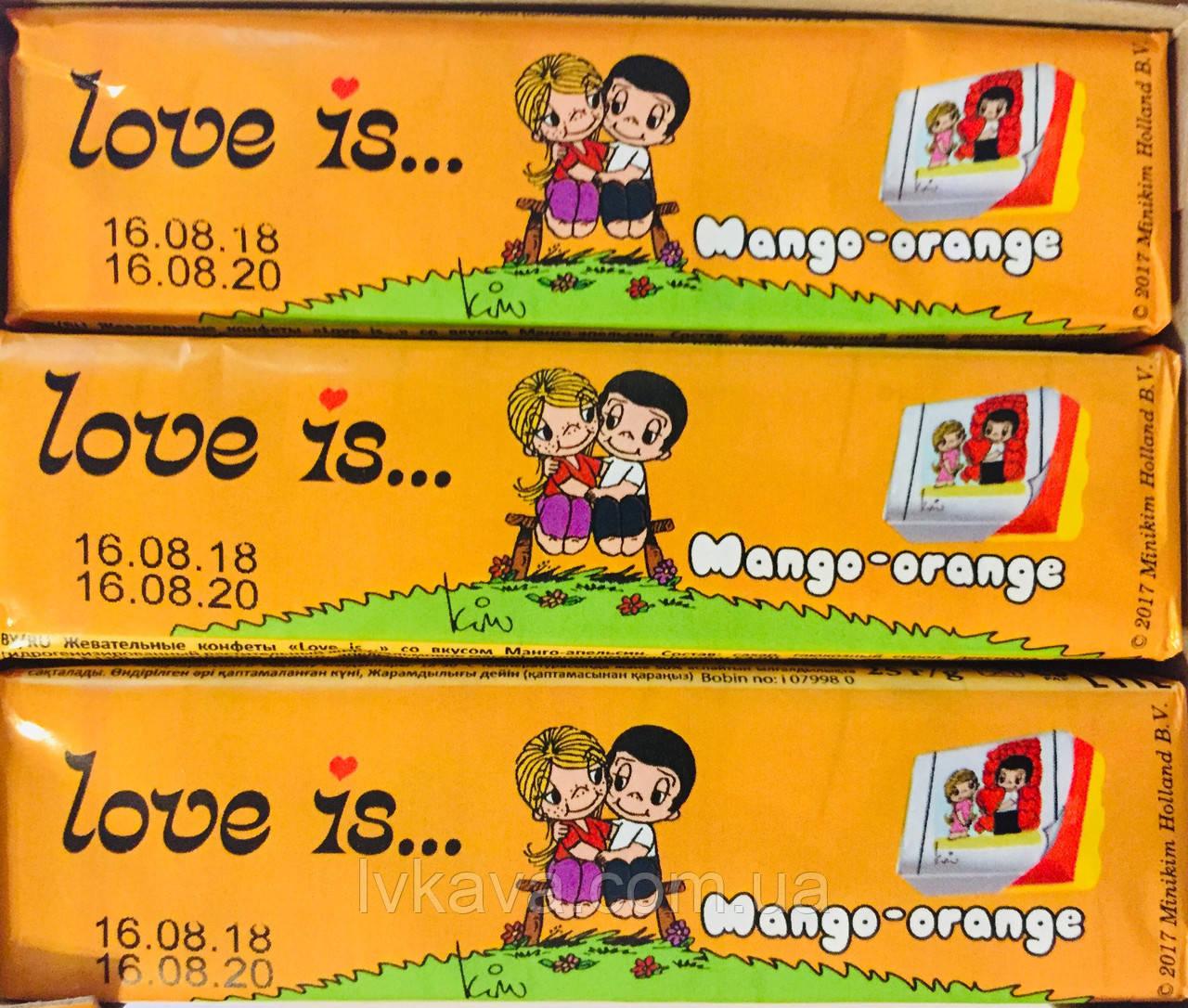 Жевательные конфеты Love is манго-апельсин , 25 гр х 12 шт