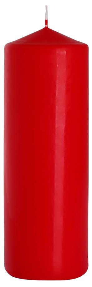 Свеча цилиндр красная Bispol 20 см (sw80/200-030)