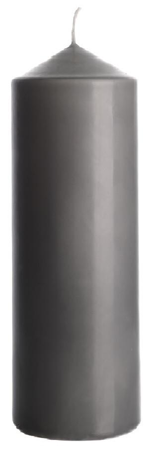Свічка циліндр сіра Bispol 20 см (sw80/200-070)