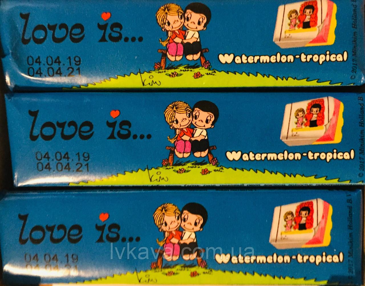 Жевательные конфеты Love is арбуз-тропик , 25 гр х 12 шт