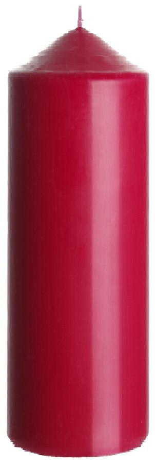 Свеча цилиндр бордовая Bispol 25 см (sw80/250-036)