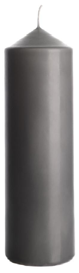 Свеча цилиндр серая Bispol 25 см (sw80/250-070)