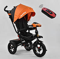 Детский трёхколёсный велосипед 6088 F - 3020 Best Trike Оранжевый, поворотное сиденье, складной руль, пульт
