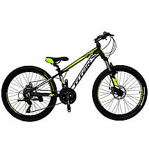 """Алюминиевый подростковый горный велосипед 24"""" TITAN XC2419 (Shimano, моноблок, Lockout, крылья), фото 3"""