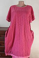 Платье женское коттон+кружево