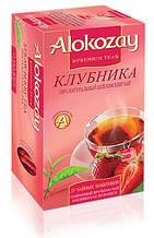 Чай черный цейлонский Клубника Alokozay, 25 пак