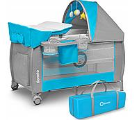 Кроватка-манеж LIONELO SVEN серо-голубой, фото 1
