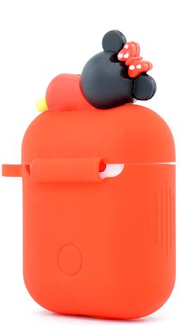 Чохол NZY для навушників Apple AirPods 3D Герої Дісней + карабін Міні Маус Червоний (123172), фото 2