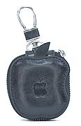 Чехол-сумка Oloka для наушников Apple AirPods с карабином Черный (123178)