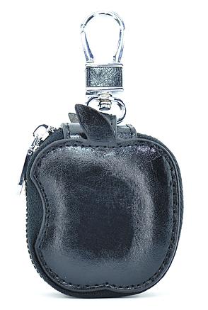 Чохол-сумка Oloka для навушників Apple AirPods з карабіном Чорний (123178), фото 2