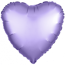 Agura Фольгированный Шар 19''/48 см, Сердце, Аметист, Сатин