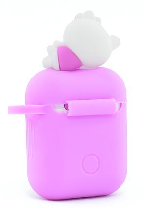 Чохол NZY для навушників Apple AirPods 3D Герої Дісней + карабін Хелоу Кіті Рожевий/Білий (123171), фото 2