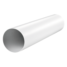Вентиляционная труба 2010 круглая D=125мм пластик длина 1м