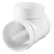 Тройник вентиляционный 232 D=125мм пластик