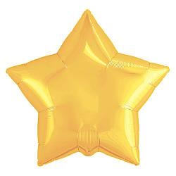 Agura Фольгированный Шар 21''/53 см, Звезда, Жёлтый