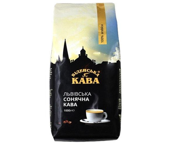 "Кофе в зернах ""Віденська кава Львівська сонячна"" 1кг. Украина"