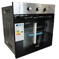 Sistema 106.01 (600 мм.) электрический, встраиваемый духовой шкаф  нержавеющая сталь / черный, фото 1